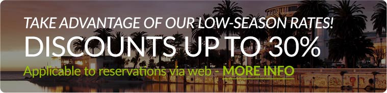 Low season rates with discounts up to 30%