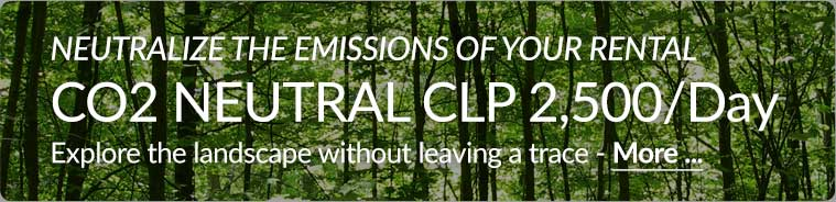 Neutralize your rental CO2 emissions for CLP 2,500 per day