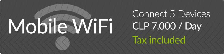 Rent a mobile WiFi router for up to 5 devices
