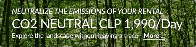 Neutralize your rental CO2 emissions for CLP 1,990 per day