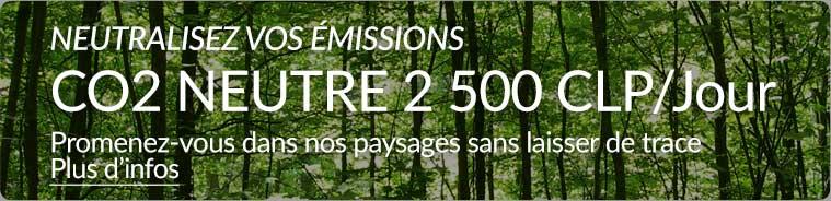 Neutralisez les émissions de CO2 de votre location
