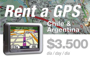 Rent a GPS for Chile & Argentina
