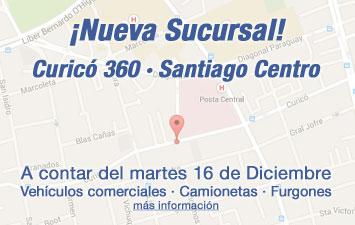 Nueva sucursal en calle Curicó 360, Santiago Centro