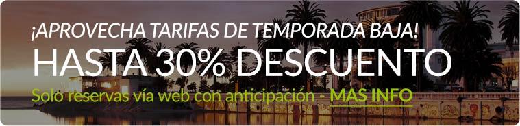 Tarifas de Temporada Baja 30% Descuento